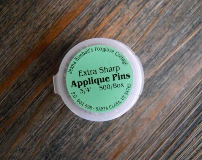 Notions: Extra Sharp Applique Pins/ Jeana Kimballs Foxglove Cottage