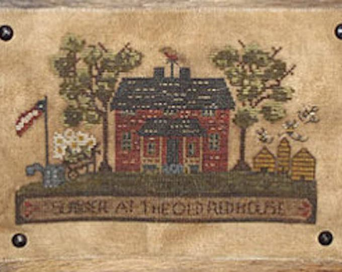 Pattern: Summer at the Old Red House Cross Stitch Pattern by Kanikis Prims and Whims