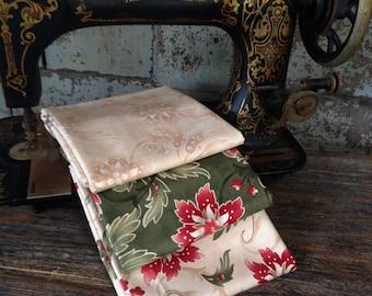 Fabric: 1/2 YARD Sentiments Collection- Lavish Poinsettias - Moda Fabrics