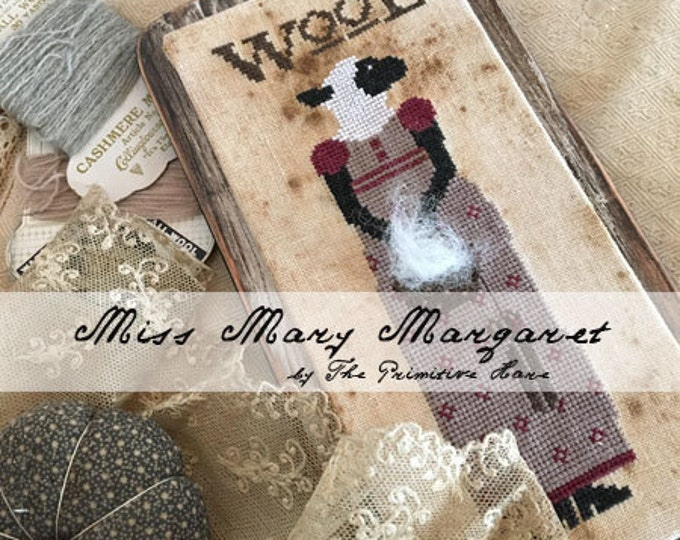 Pattern: Miss Mary Margaret Wool Cross Stitch - The Primitive Hare