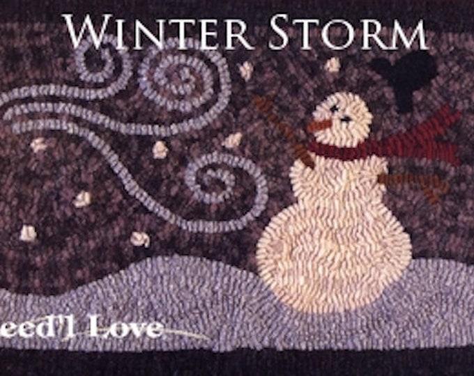 """Pattern: Rug Hooking - """"Winter Storm"""" by Renee Nanneman of  Needle Love Designs"""