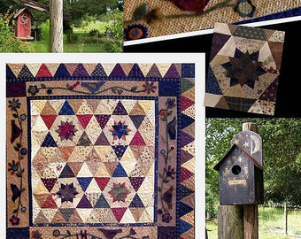 Pattern: Mocking Birds Quilt Pattern by Primitive Pieces by Lynda