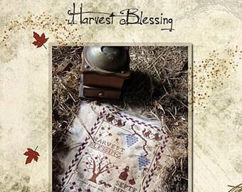 Pattern: Harvest Blessing Cross Stitch - Primitive Hare