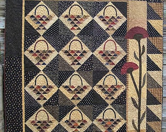 Pattern: Gathering Basket Quilt Pattern by Primitive Pieces by Lynda