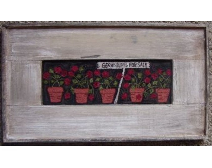 Thread Kit and Pattern: Geraniums for Sale by Primitive Gatherings