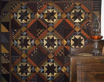Pattern: Burning the Midnight Oil Quilt Pattern by Primitive Pieces by Lynda