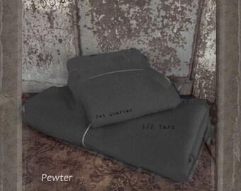 Wool: Fat Quarter 100% Wool - PEWTER - Marcus Fabrics