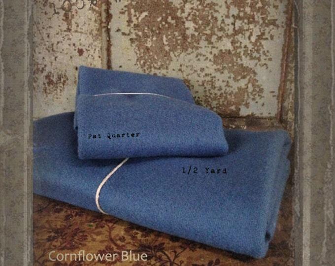 Wool: Fat Quarter 100% Wool - CORNFLOWER BLUE - Marcus Fabrics