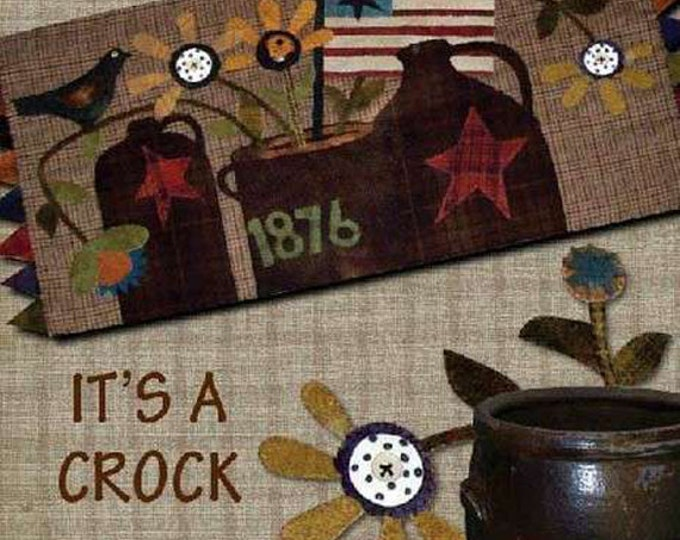 Pattern: It's a Crock Wool Table Rug by Primitive Pieces by Lynda