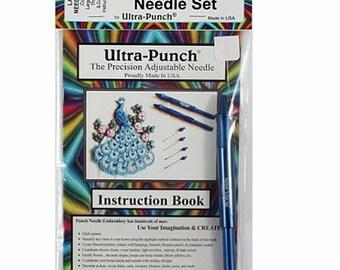 Punch Needle: Large Cameo Ultra Punch Needle Set - Needle Instructions Threader