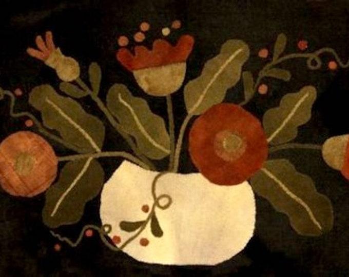 """Pattern: """"Flowers in a Pumpkin Shell"""" by Maggie Bonanomi"""