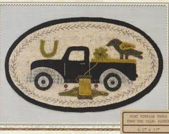 Pattern: March Mini Vintage Truck Thru the Year - Shamrock, by Buttermilk Basin