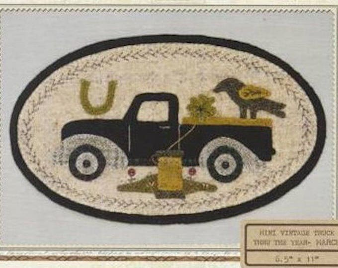 Pattern: March Mini Vintage Truck Thru the Year - Shamrock, by Buttermilk Basin