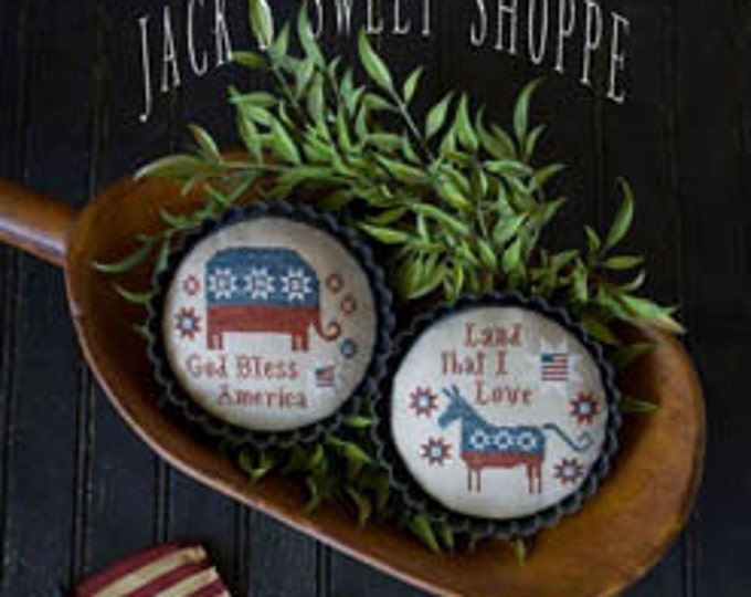 Pattern: Jacks Sweet Shoppe - Party Tarts Cross Stitch by Plum Street Samplers