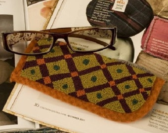 Pattern: Blocked Spectacle Case Punch Needle - Threads That Bind