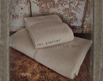 Wool: Fat Quarter or 1/4 yd 100% Wool - PUTTY - Marcus Fabrics