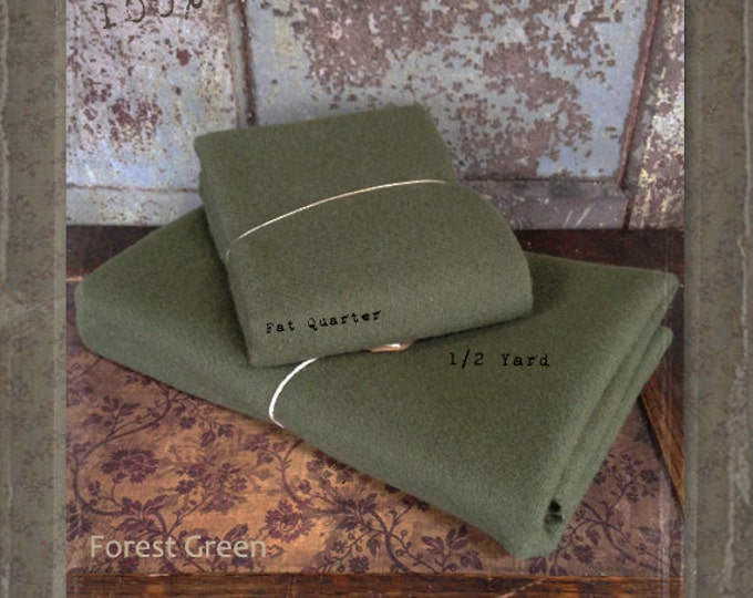 Wool: 1 YARD 100% Wool - FOREST GREEN - Marcus Fabrics