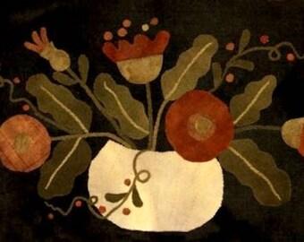 """Wool Kit & Pattern: """"Flowers in a Pumpkin Shell"""" by Maggie Bonanomi"""