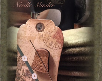 Notions: Vintage Thimble Needle Minder Magnet by Retromantic Fripperies