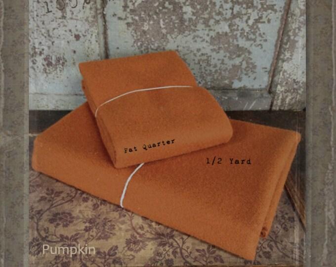 Wool: Half Yard 100% Wool - PUMPKIN - Marcus Fabrics
