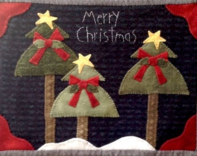 Pattern: We Three Trees Wool Applique by Wooden Spool Designs