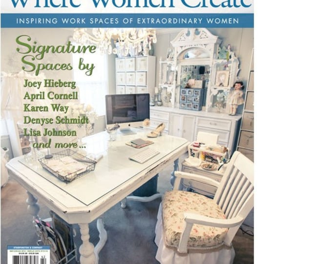 Magazine:  Where Women Create Magazine from Stampington and Company Summer 2014
