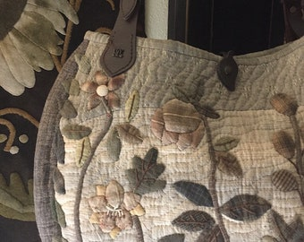 Handmade Finished Store Sample: Quilted, Appliqued Purse