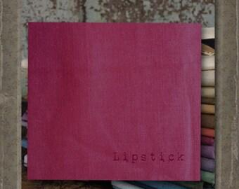 Fabric 1 YARD: Aged Muslin Cloth (New) - LIPSTICK 124 Marcus Fabrics
