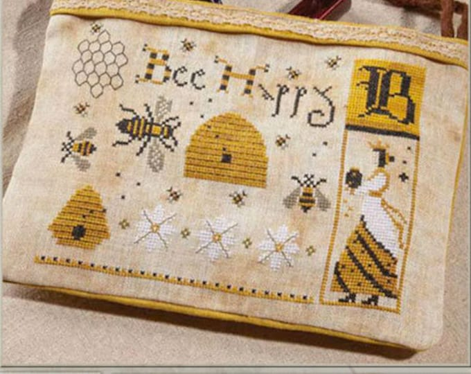 Pattern: Cross Stitch - Bee Happy  by The Primitive Hare