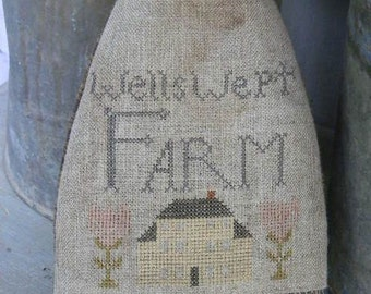Pattern: Well Swept Farm Cross Stitch created by Notforgotten Farm