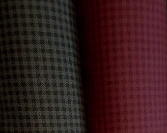 Fabric: 1 YARD - Green / Red  Cotton mini check from Pieceful Pines Collection by Marcus Brothers Fabrics
