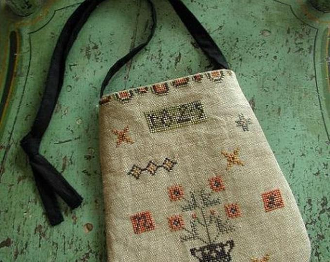 Pattern: Folksy Ditty Bag Cross Stitch by Threadwork Primitives