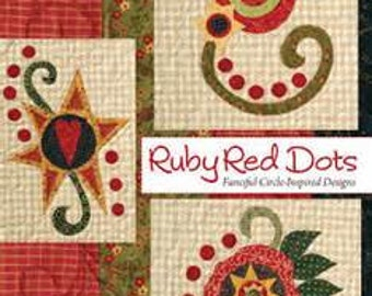Pattern Book: Ruby Red Dots - Fanciful Circle Inspired Designs By Sheri Howard
