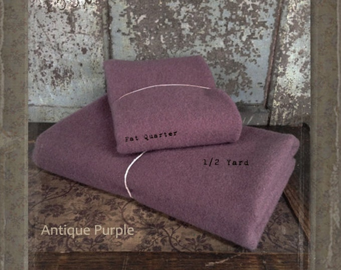 Wool: Half Yard 100% Wool - ANTIQUE PURPLE - Marcus Fabrics