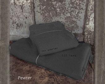 Wool: 1 YARD 100% Wool - PEWTER - Marcus Fabrics