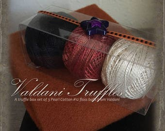 Valdani Thread: Gift Set/3 Perle Cotton Embroidery Thread Balls - Oct.31st  Collection