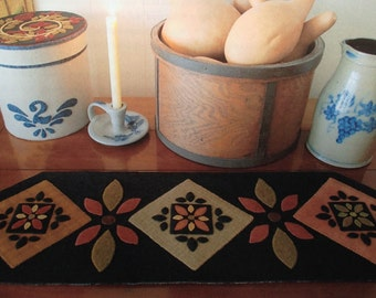 """Pattern: Wool Applique Table Runner- """"Amish Inspiration"""""""