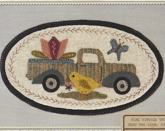 Pattern: April Mini Vintage Truck Thru the Year - Chick, by Buttermilk Basin