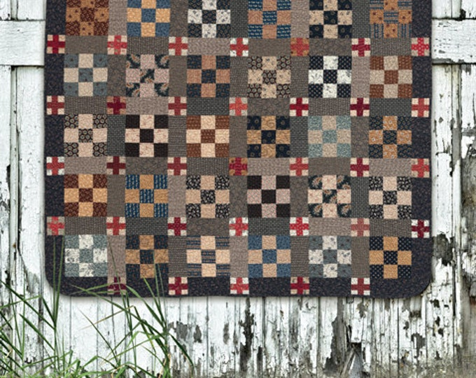 Pattern: Blue and Gray Quilt Pattern by Country Threads