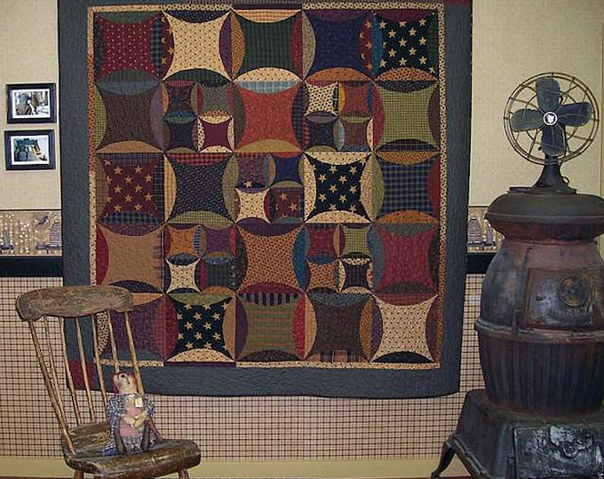 Pattern: Peter Paul and Aunt Mary Quilt Pattern by Primitive Pieces by Lynda