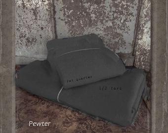 Wool: Half Yard 100% Wool - PEWTER - Marcus Fabrics