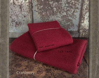 Wool: Half Yard 100% Wool - CRANBERRY - Marcus Fabrics