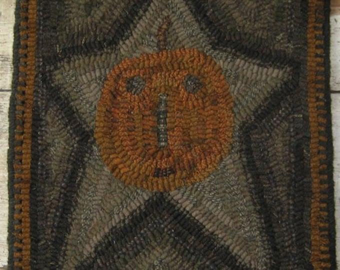 "Pattern: Primitive Rug Hooking Pattern - ""Star Jack"" from Baskets of Wool"
