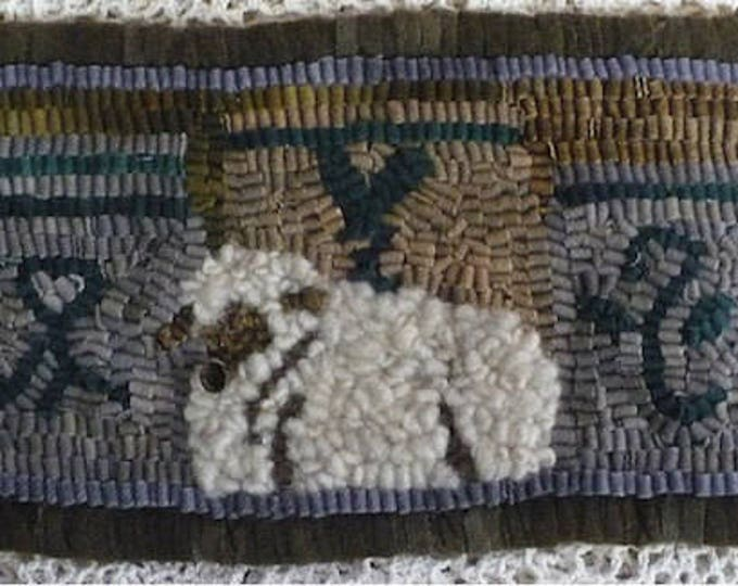 "Beginners Rug Kit and Pattern..""Lamb and Crocks ""  by Vintage Heart Rug Design (Yvonne Buus)"