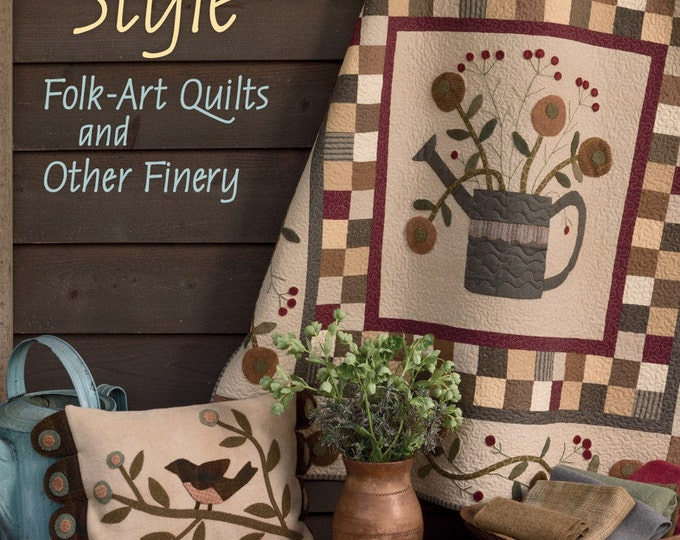Pattern Book: Primitive Style - Folk Art Quilts and Other Finery by Jenifer Gaston for The Patchwork Place