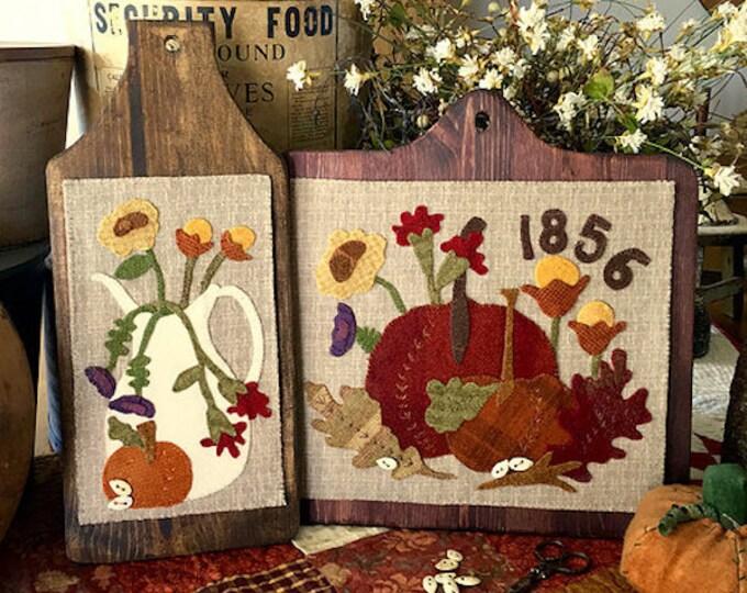 "Pattern: ""Autumn Grace"" Wool Appliqué by 1894 Cottonwood House"
