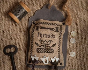 """Kit and Pattern: Tag Trio """"Threads"""" by Jeannette Douglas Designs"""