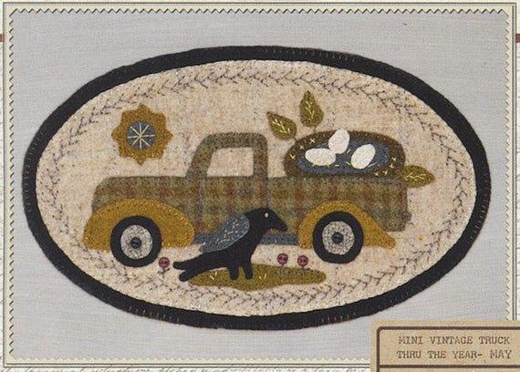 Pattern: May Mini Vintage Truck Thru the Year - Nest, by Buttermilk Basin