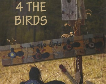 Pattern: 4 the Birds Wool Applique Pattern by Primitive Pieces by Lynda