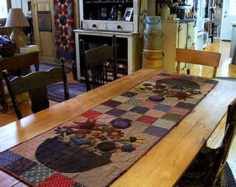 Pattern: May Baskets Applique Table Runner by Primitive Pieces by Lynda